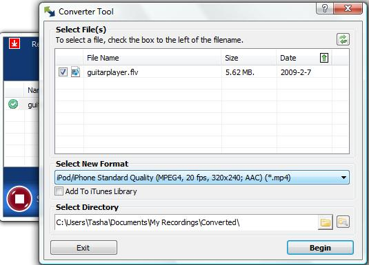 How to use the Conversion Tool Within Replay Media Catcher